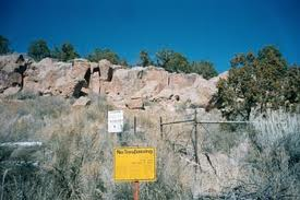 Place of Avanyu, sealed off within Area G in Los Alamos, NM - now desecrated by the world's largest nuclear dump.
